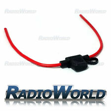 Waterproof 30A 12V 24V Inline Mini Blade Fuse Holder 12AWG Car Bike Wire Cable