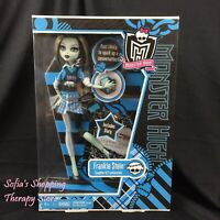 Monster High Frankie Stein SCHOOLS OUT Doll Purse Diary Stand Laptop Lot NEW