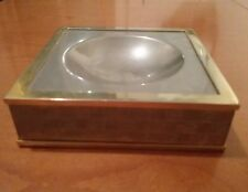 GUCCI VINTAGE ASHTRAY/BOX GG MONOGRAM PORTACENERE / SCATOLA ORIGINALE RARO RARE