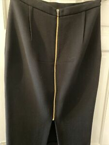 ROLAND MOURET 'Arreton' Wool Pencil Skirt Black