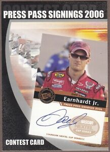 RARE 2006 Press Pass  DALE EARNHARDT JR Signings Contest Entry Card; No# WOW!!!