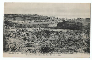 WW1 RPPC Craonne France 1914-1916  Barbed Wire from Mont Hermel Postcard