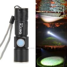 800LM LED Q5 USB Rechargeable Lampe de Poche Lumineux Torch Flashlight Zoomable