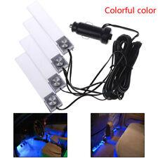 4Pcs LED Car Interior Atmosphere Blue Light Charge Floor Decor Lamp AccessoriCRI
