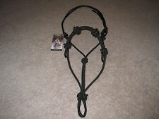 THOMEY HORSE TRAINING 4 KNOT ROPE HALTER FITS PARELLI  ANDERSON  ~ BLACK