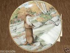 The Woodland Year Otter September Waterfall by Peter Barrett 1981 Calendar