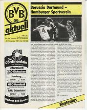 BL 87/88 Borussia Dortmund - Hamburger SV