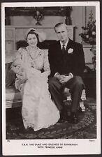T.R.H. The Duke & Duchess of Edinburgh & Princess Anne - Tuck's R.Photo Postcard