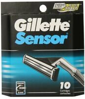 Gillette Sensor Razor Blades - 10 Cartridges