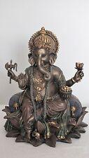 ganesha,21x15cm,bronziert,figur,hindu,gottheit,hinduismus,ganapadi,colouriert