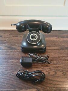 Retro Grand Cordless BLK Phone w/ Handset No.841.829 900MHZ Pottery Barn