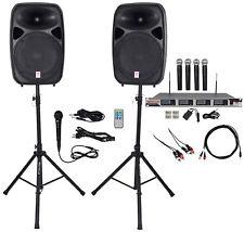 "Rockville Dual 15"" iphone/ipad/Android/Laptop/TV Youtube Karaoke Machine/System"