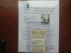 President Lyndon Johnson 2020 Historic Autographs POTUS Auto Beckett Redemption