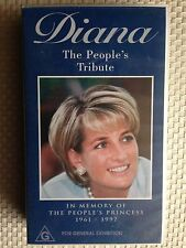DIANA THE PEOPLE'S TRIBUTE~IN MEMORY PEOPLE'S PRINCESS 1961-1997~ RARE VIDEO