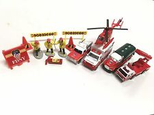Lot of 10 FDNY Mini Toy Figures Vehicles+ Fire Department of New York NY REALTOY