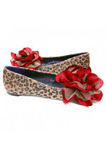 IRREGULAR CHOICE JOHN LEMON LEOPARD SHOES 5.5 FLATS FLOWER ANIMAL PRINT NIB