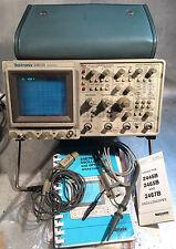 Tektronix 2467b 400mhz 2 canali oscilloscopio con accessori ottime TUBO
