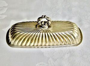 WONDERFUL VINTAGE SILVER PLATED ART NOUVEAU STYLE BUTTER DISH GLASS INSERTS