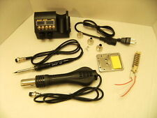 Professional Soldering Station Iron Reflow Rework Hot Air Gun Solder Tech Tool
