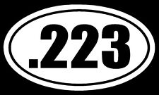 .223 Vinyl Decal Sticker Car Window Wall Bumper Gun Ammo AR-15 M16 Assault Rifle