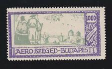 Vintage 1925 Budapest Aero Szeged Cinderella Stamp Mint OG NH