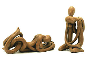 Vintage Danya B. Contemporary Clay Art Matching Lover's Loving Passion Embrace