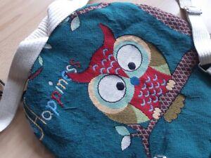 Rucksack Eule - Shopper Tasche aus strapazierfähigem Stoff - sehr guter Zustand