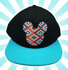 Disney Tribal Mickey Mouse Tribal Black Blue Baseball Hat Cap Snapback Neff