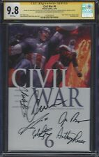 Civil War #6__CGC 9.8 SS__Signed by cast/directors of Captain America: Civil War