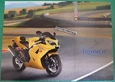 TRIUMPH MOTO DAYTONA 600  MOTORCYCLE DEPLIANT  BROCHURE PUBBLICITÀ  RECLAME