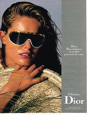 PUBLICITE ADVERTISING 064  1988  DIOR  collection optiques solaires lunettes