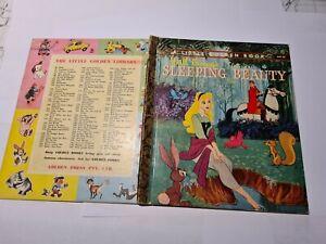 Little golden book Walt Disney SLEEPING BEAUTY D47:30 SYD PRE1966 4 sq back V/G