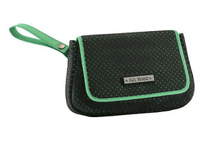 GG Rose by Rock Rebel Perforated Star Clutch Wristlet Black and Aqua Green
