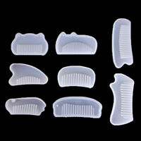 3D Transparent Silicone Comb Mold Epoxy Resin Molds For DIY JewelryMaking ToolVU