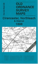 OLD ORDNANCE SURVEY MAP CIRENCESTER, FAIRFORD, NORTHLEACH & DISTRICT 1898