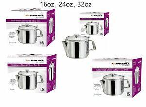 Stainless Steel Tea Coffee Pot Flip Lid 16oz 24oz 32oz Tea Pot RESTAURANT HOTEL