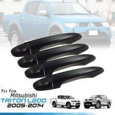 MATTE BLACK COVER DOOR HANDLE 4DRS TRIM FIT FOR MITSUBISHI TRITON L200 2005-2014