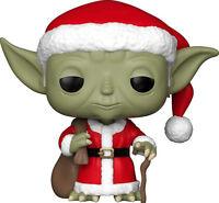 FUNKO POP Star Wars Christmas Holiday Yoda Santa SOFT VINYL ACTION FIGURE NEW