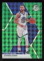 2019-20 Panini Mosaic Stephen Curry #70 Green Prizm Golden State Warriors