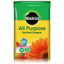 More details for miracle gro all purpose enriched compost 20l 40l 50l garden plant growing soil
