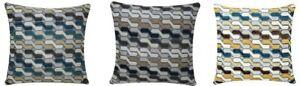 Luxury Chenille Velvet Geometric Print Square 17 x17 Pillowcase Cushion Cover
