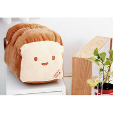 """Kawaii Japanese Anime Doll Throw Pillow Cute Loaf Bread Food Plush Toy 15"""" Large"""