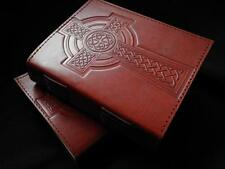 CELTIC CROSS Handmade Leather Journal Diary Grimoire - Pages of Cartridge Paper