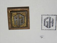 Alter Messing Stempel - GH - Druckplatte ?      #3319