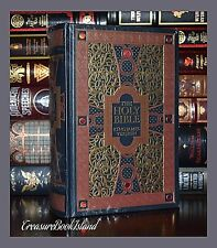 NEW Holy Bible KJV Illustrated Gustave Dore Sealed Leather Bound Collectible