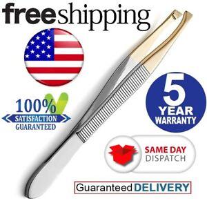 1x Professional Eyebrow Tweezers Slant Tip|Precision Hair Tweezer for Men&Women