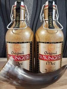 2 Wikinger Met Tonkrüge +Trinkhorn