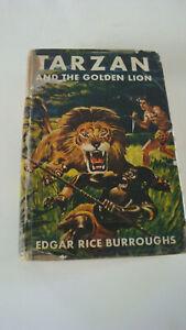 Tarzan & The Golden Lion Edgar Rice Burroughs Grosset Dunlap 1923 HC/DJ 9th book