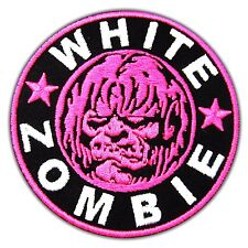 White Zombie Heavy Metal Rock Music Band Back Logo Embroidery Patch Iron On ROB