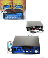 AMPLIFICATORE AUDIO 12V 220V USB SD 2 MICROFONI MP3 FM CASA AUTO KARAOKE BT188A